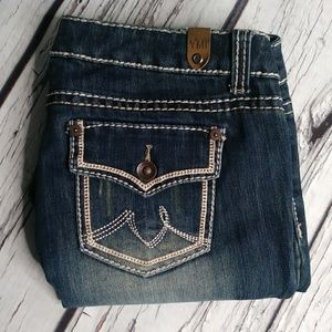 YMI Distressed Button Flap Pocket Skinny Jeans 13